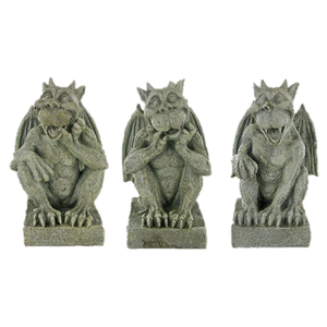 Set of 3 Wise Gargoyles Medieval Sculpture Statues Gargoyle Gift