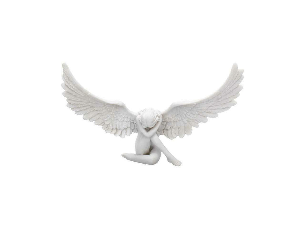 Seductive Angel Wings Sculpture Figurine Statue Angelic Ornament Figure