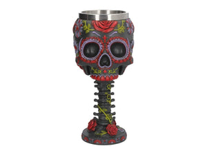 Nemesis Now Sugar Blooms Goblet  Goblet 22cm Black