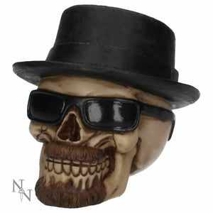 Nemesis Now Badass Skull with Hat Figurine Gothic Ornament 14cm
