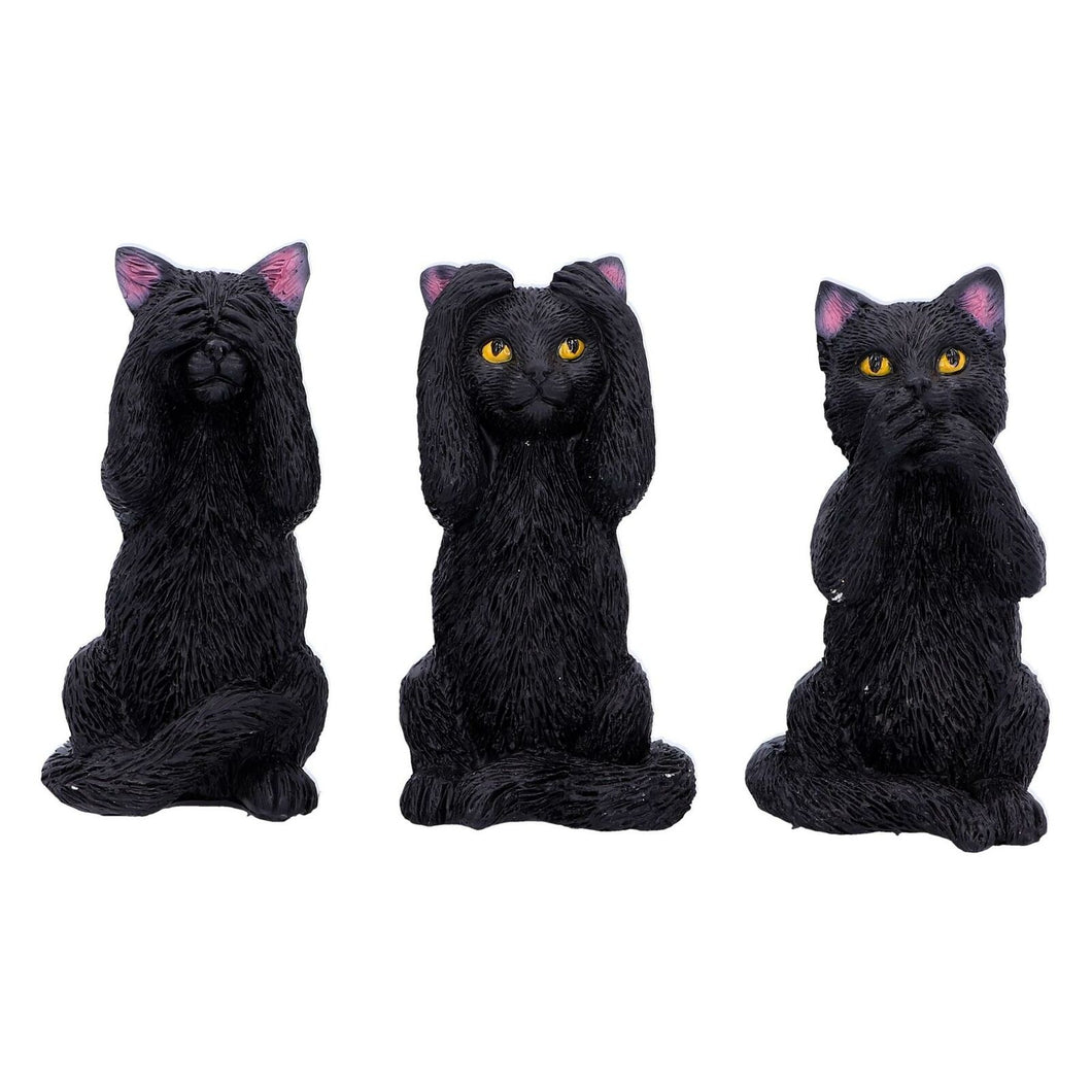 3 Wise CATS ornaments Figurines CAT Figures Ornamental Gifts