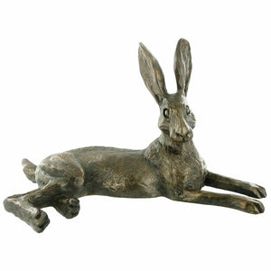 Bronze Wild Hare Figurine Hares Gifts Sculpture Rabbit Statue Ornament