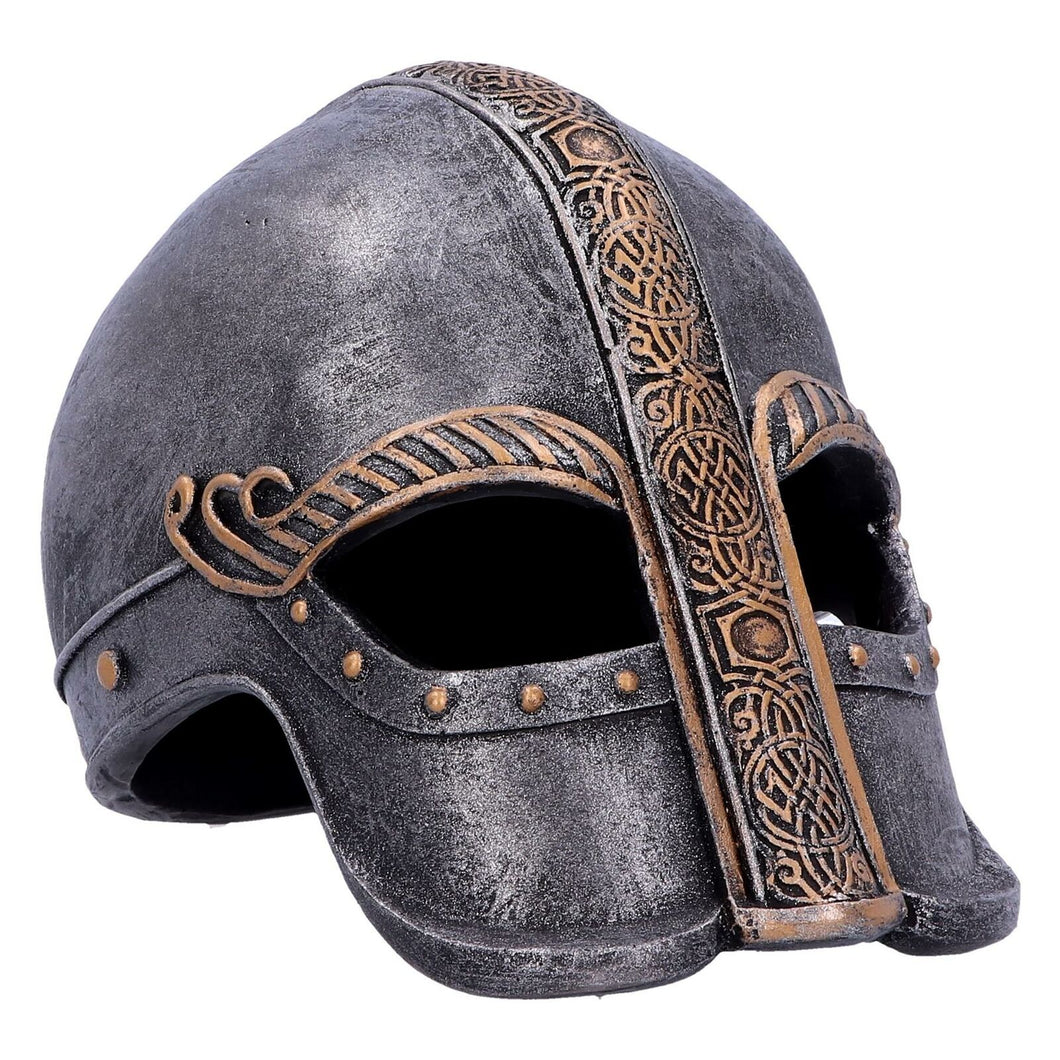 Viking Warriors Helmet Statue Sculpture Norse Style Ornament Gift