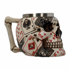 Dead Man's Hand Skull Tankard Gothic Ornament or Drinking Glass