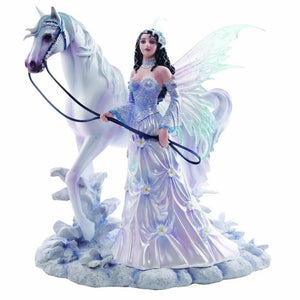 Winter Wings Fairy and Horse Figurine Statue Ornament Sculpture Figure Fantasy