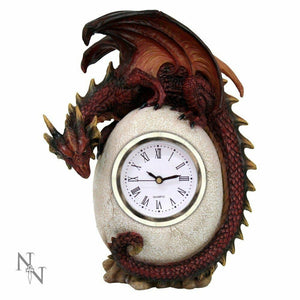 Gothic Mantel Clock Dragon Egg Guardian Ornament Figurine or Gothic Gift