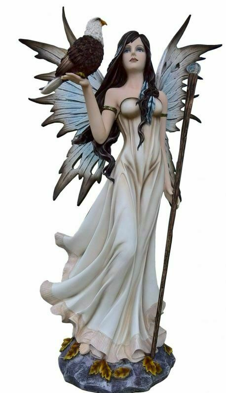Large Fairy and Eagle Companion Sculpture Statue Mythical Creatures Figure Gift
