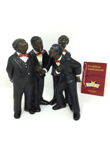 Singers Choir Barbershop Quartet Vocalist Male Gospel Figurine Singer Statue