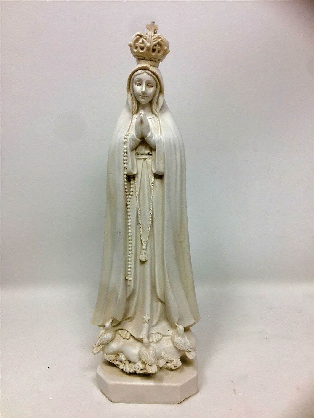 Blessed Virgin Mary Our Lady of Fatima White Statue Ornament Figurine
