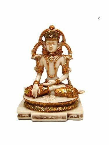 Meditating Buddha Ornament Feng Shui Antique Effect Lotus Statue Figurine