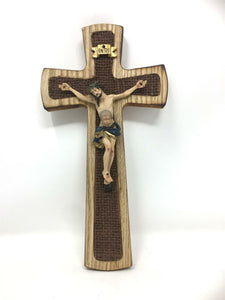 Wooden Crucifix Hanging Wall Cross Resin Corpus Christi Jesus Christ Religious