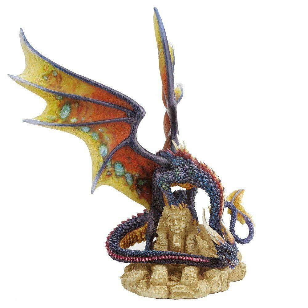 Dragon and Sphinx of Egypt Ornament Sculpture Statue Figurine Gothic Gift