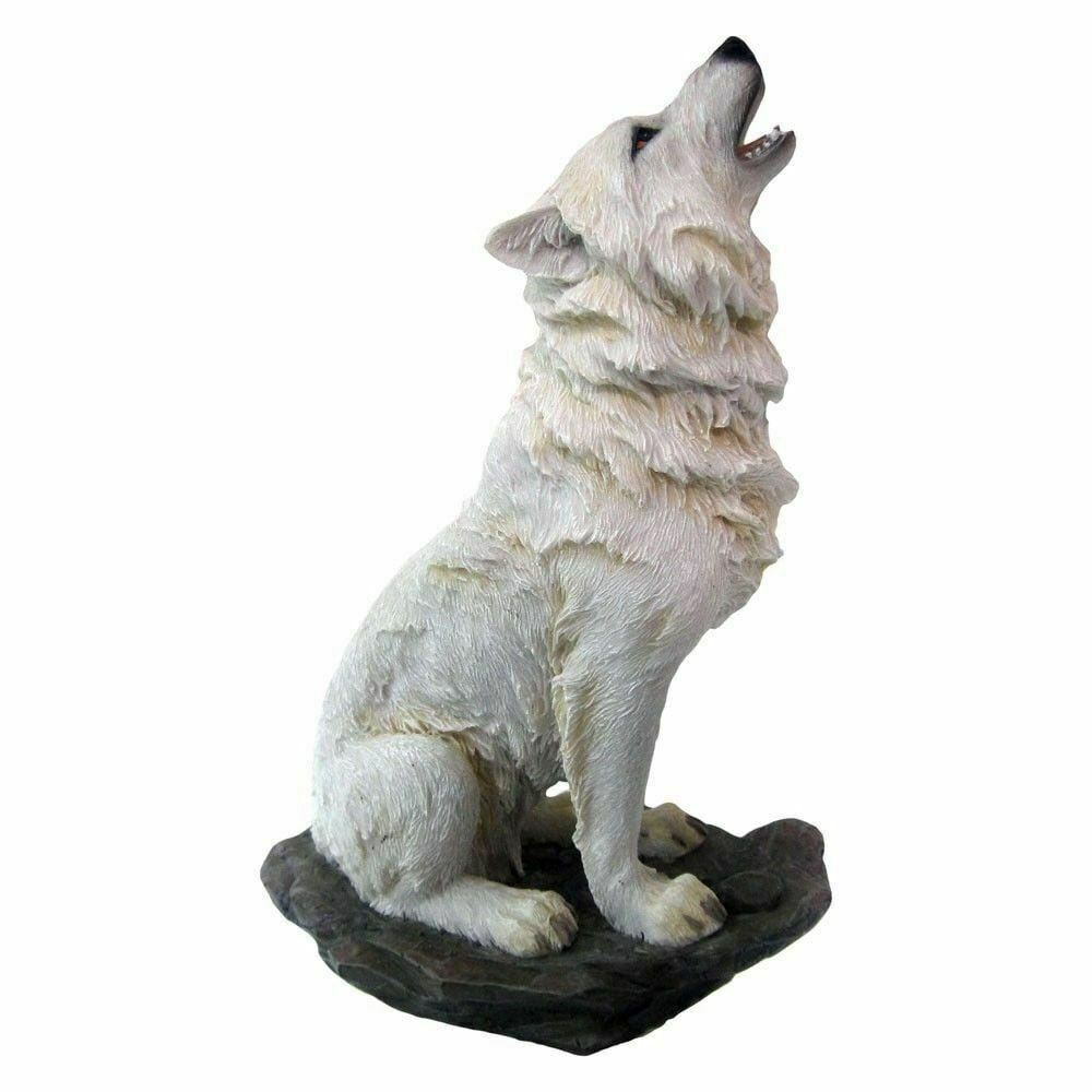 Howling Wolf Figurine Ornament Statue Sculpture Wolves Lovers Gift Idea