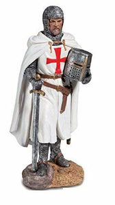 Templar Knight With Sword Figurine Statue Crusader Ornament Medieval Gift