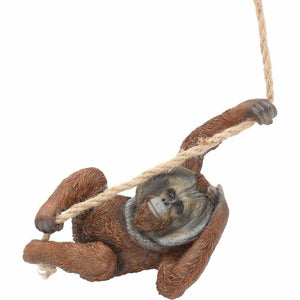 Cheeky Chap Figurine Orangutan Ape Primate Animal Hanging Ornament