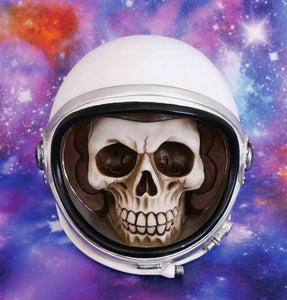 Astronaut Skull Money Box Space Man Piggy Bank Figurine Ornament