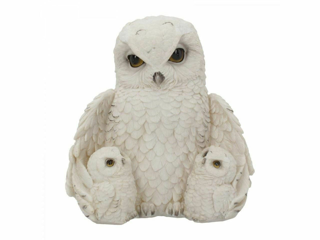 Novelty Mother Love Owl with Babies Figurine Statue Sculpture Ornament Owls