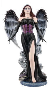 Gothic Witch Dark Fairy Fallen Angel Sculpture Summoner Succubus Statue Ornament