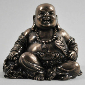 Sitting Laughing Buddha Sculpture Spiritual Gift Small Home Decor Ornament 6.5cm