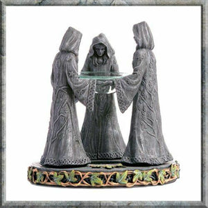 Magik Circle Pagan Gothic Oil Burner Wiccan Pagan Mother Maiden Crone
