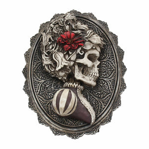 Novelty Lady Skeleton Wall Plaque Sculpture Gothic Skull Home Decoration
