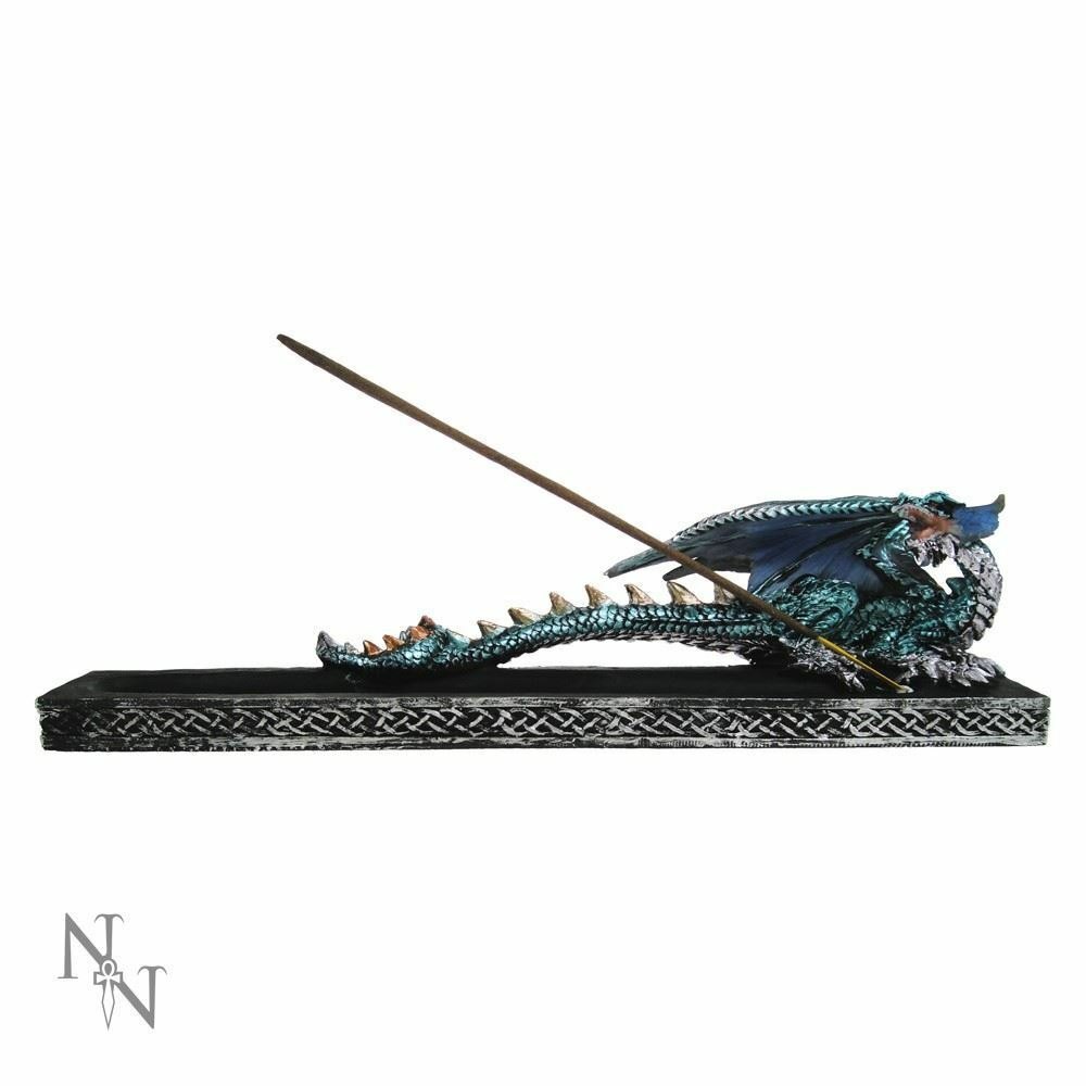 Dragon Guardian Incense Holder Burner Figurine Ornament or Gothic Gift