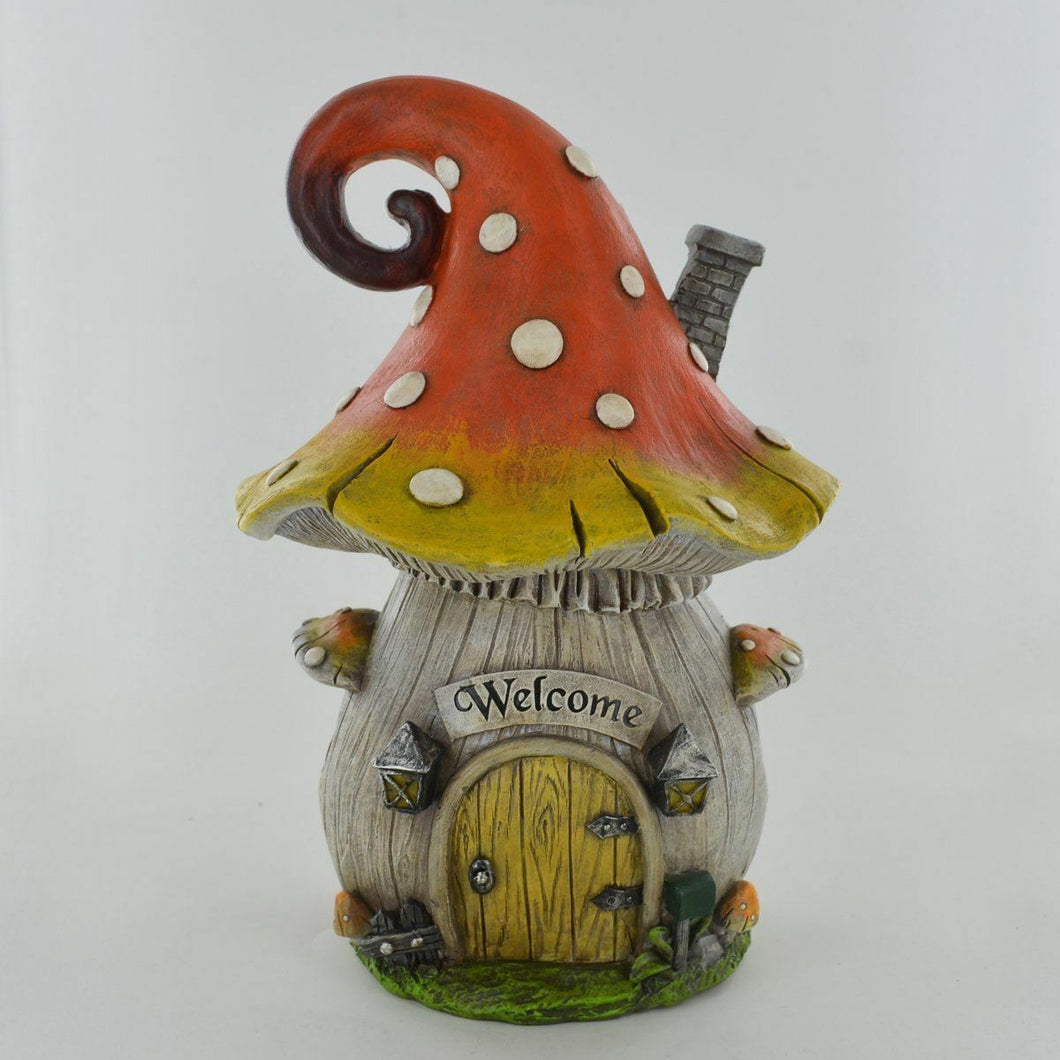 Fairy Garden Ornament Mushroom House Decoration Sculpture for Pixie Elf Fairies