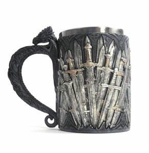 Game of Thrones Swords Dragon Tankard Medieval Sword Legends Drinking Cup Goblet