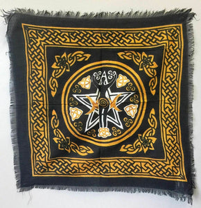 Celtic Triple Moon Goddess Altar Cloth Tarot Wiccan Supplies Pagan Wall Hanging