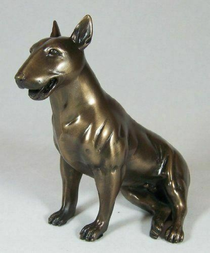 English Bull Terrier Bronze Figurine Dog Sculpture Pitbull Statue Ornament
