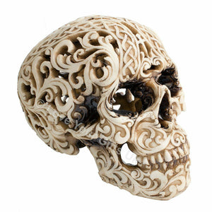 Celtic Decadence Gothic Skull Sculpture Decoration Skulls Figure Ornament