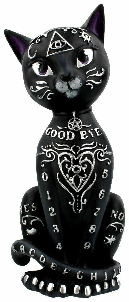Mystic Kitty Ornament Black Figurine Statue  26cm