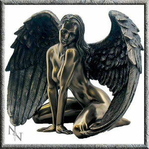 Passion Erotic Nude Female Angel Sculpture Statue Bronze Effect Ornament