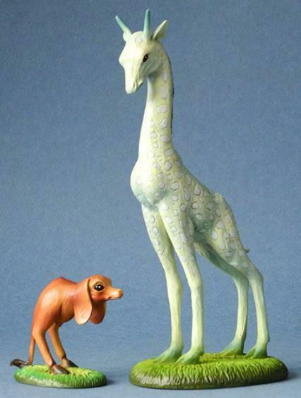 Giraffe and two-legged dog Hieronymus Bosch Museum Reproduction Sculpture