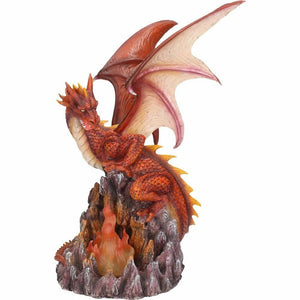 Large Red Fire Dragon Statue Sculpture Ornament Figurine Figure Gift