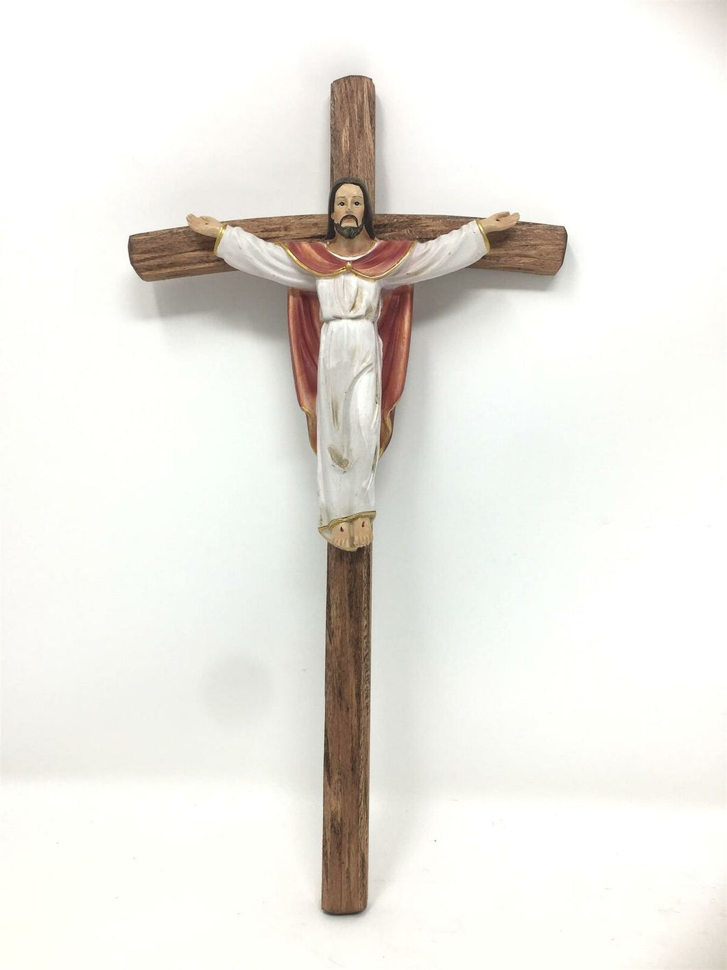 Risen Jesus Christ Crucifix Hanging Wall Cross Religious Ornament