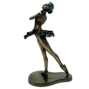 Art Deco Bronze Ballet Figurine Sculpture Ballerina Statue Ornament Figure