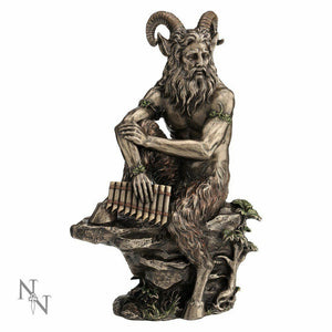Large Horned God Pan Figurine Statue Sculpture Wiccan Pagan Decor Ornament