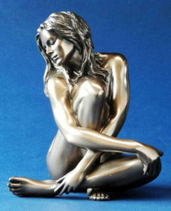 Bronze Effect Nude Female Sculpture Naked Woman Pose Figurine Statue Gift