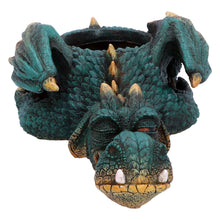 Load image into Gallery viewer, Green Dragon Garden Ornament Plant Pot Sculpture Statue Figurine Gift