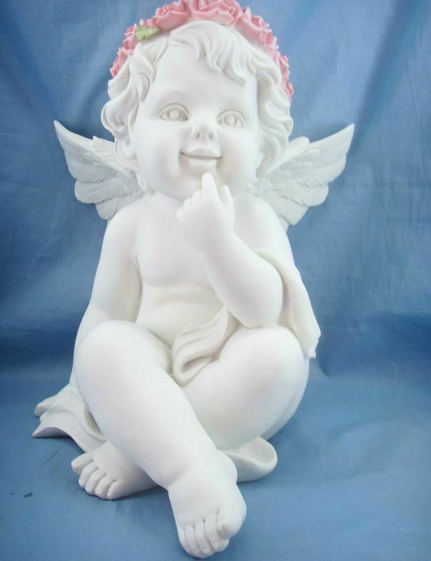 Guardian Angel Figurine Cherub Statue Ornament Sculpture Statue Gift Figure
