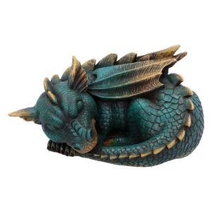 Magical Sculpture Green Dragon Figurine Resin Ornament Figure Dragons Gifts