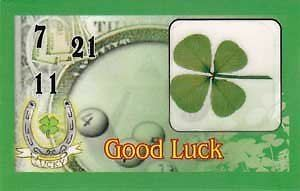 Four Leaf Clover Good Luck Token