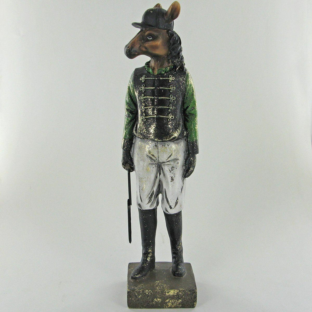 The Jockey Horse Statue Vintage Novelty Decor Steampunk Fantasy Dapper Animals