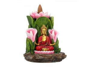 Serenity Buddha Backflow Incense Holder Burner Home Ornament