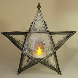 Antique Effect Moroccan Style Lantern Hanging Tea Light Candle Holder Ornament