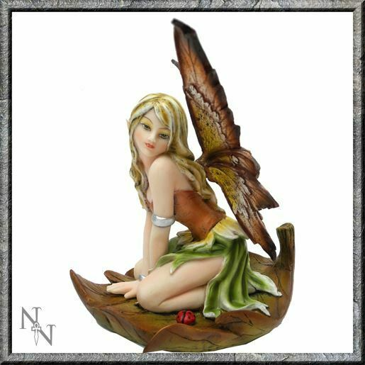Sarah Fairy on Leaf Figurine Statue Ornament Magical House Decoration