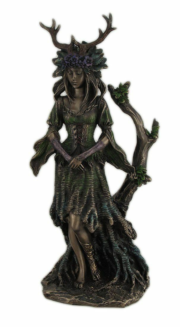 Guardian Goddess of the Trees Bronze Effect Statue Ornament Wiccan Pagan Decor
