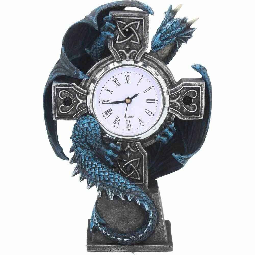 Nemesis Now Draco Dragon Celtic Carriage Shelf Clock Anne Stokes Gothic Ornament
