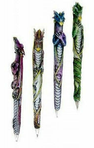Set of Four Dragon Pens Home Office Gothic Decor or Dragons Lover Gift